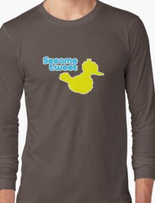 Sesame Tweet - Blue Text Long Sleeve T-Shirt