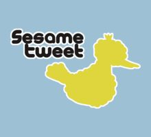 Sesame Tweet - Black Text Kids Tee