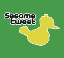 Sesame Tweet - Black Text One Piece - Short Sleeve