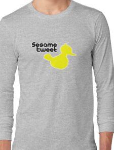 Sesame Tweet - Black Text Long Sleeve T-Shirt