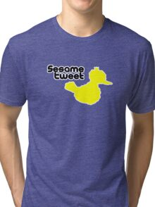 Sesame Tweet - Black Text Tri-blend T-Shirt