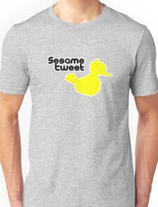 Sesame Tweet - Black Text Unisex T-Shirt
