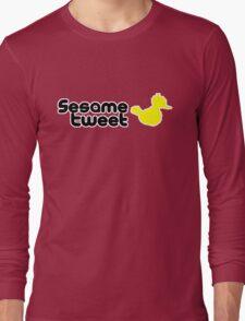 Sesame Tweet - Black Text V.2 Long Sleeve T-Shirt
