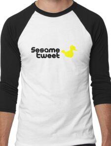 Sesame Tweet - Black Text V.2 Men's Baseball ¾ T-Shirt