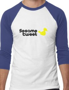 Sesame Tweet - Black Text V.2 Men's Baseball ¾ T-Shirt