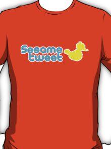 Sesame Tweet - Blue Text V.2 T-Shirt