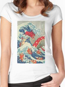 The Great Red Wave Women's Fitted Scoop T-Shirt