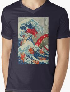 The Great Red Wave Mens V-Neck T-Shirt