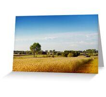 Rural wheat field view Greeting Card