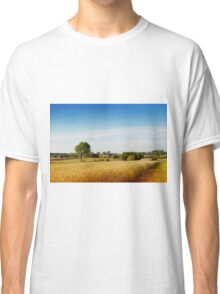 Rural wheat field view Classic T-Shirt