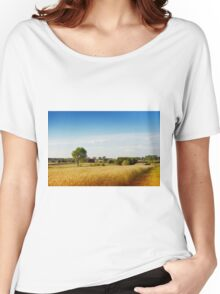 Rural wheat field view Women's Relaxed Fit T-Shirt