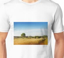 Rural wheat field view Unisex T-Shirt
