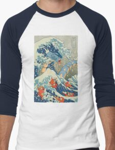 The Great Wave Men's Baseball ¾ T-Shirt