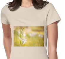 Ornithogalum nutans flower and ladybug Womens Fitted T-Shirt