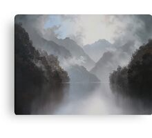 Under the Mist Beauty Lies Waiting Canvas Print