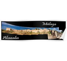 Alcazaba de Malaga - España (Spain) - Panoramica Poster