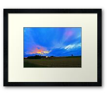 Late Evening Along the Teesdale Way, Gallow Hill Gainford England Framed Print