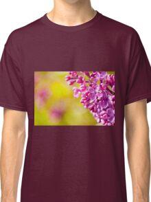 Spring lilac flowerets macro Classic T-Shirt