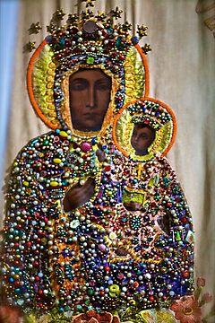 The Black Madonna of Częstochowa. Queen of Poland. Views 2333  dziękuję  bardzo ! thank you friends ! has been SOLD ! Promotor Fidei. by © Andrzej Goszcz,M.D. Ph.D