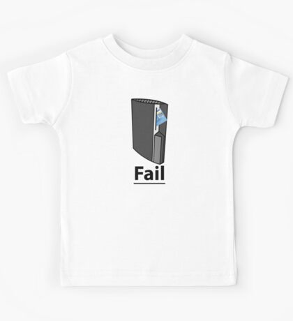 PS3 Fail, A playstation eating your credit card, comedy gamer design. Kids Tee