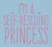 I'm a self-rescuing princess Kids Tee