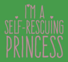 I'm a self-rescuing princess Kids Tee
