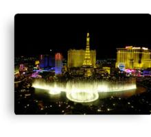 View from Bellagio, Las Vegas Canvas Print
