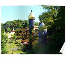 Hundertwasser House (Essen, Germany) Poster