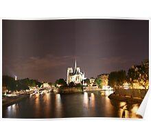 Paris at Night Poster