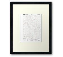 USGS Topo Map Oregon Downey Canyon 20110902 TM Framed Print