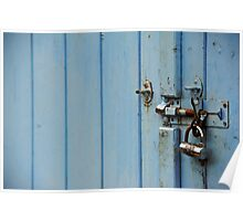 Locked in blue Poster