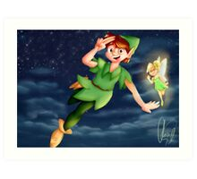 Peter Pan - Flying Art Print