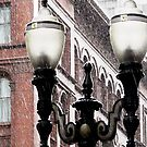 lamp post in the rain by tego53
