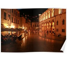 Dubrovnik at Night Poster