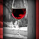 Red Wine (black and White) by Kimberly Darby