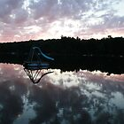 Water Slide on Spider Lake in Michigan by danielrp1