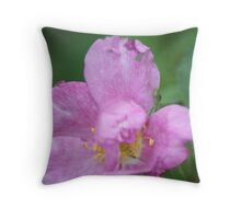 Purple Gem Throw Pillow