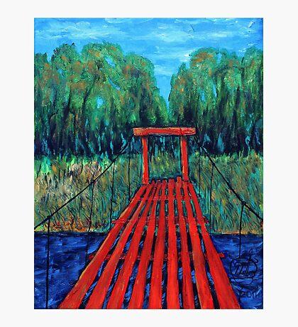 Oil Painting - Red Bridge. Kamchatka, Russia 2011 Photographic Print