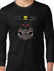 Five Nights at Freddys 4 - Nightmare! - Pixel art Long Sleeve T-Shirt