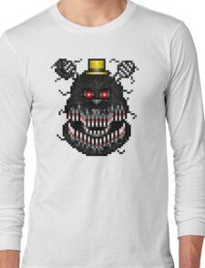 Five Nights at Freddys 4 - Nightmare! - Pixel art Long Sleeve T-Shirt