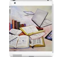 Then and Now Watercolour Painting iPad Case/Skin