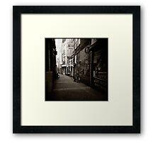 { dim walkway } Framed Print