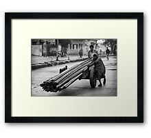 Moving steel Framed Print