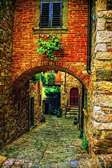Streets of Tuscany by Angela King-Jones