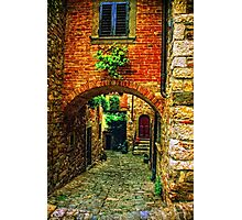 Streets of Tuscany Photographic Print