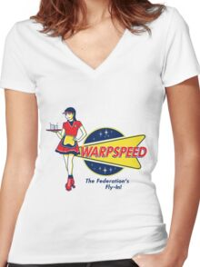 Warpspeed Federation Fly-In Women's Fitted V-Neck T-Shirt