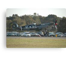 Spitfire Landing @ Williamtown Airshow 2010 Canvas Print
