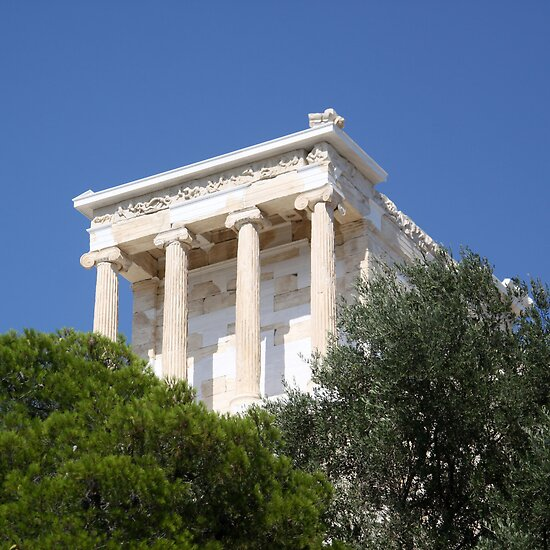 temple of athena nike by Iris Mackenzie