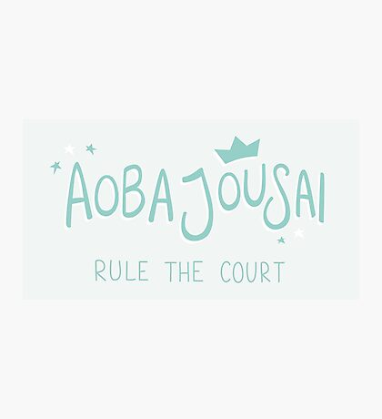Aoba Jousai - Rule The Court Photographic Print
