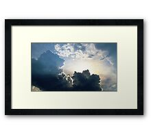 Storm Clouds in New York City  Framed Print